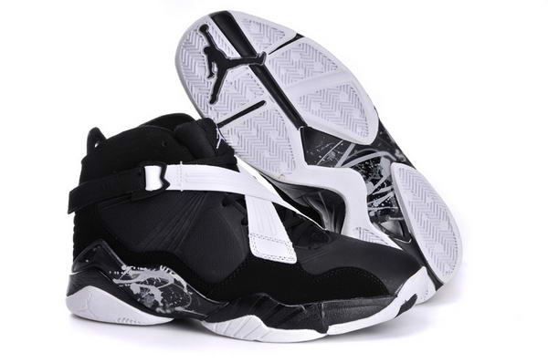 Air Jordan 8 VIII Retro Shoes black/white gray